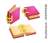 set of cartoon pink book from...