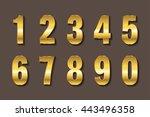 vector golden numbers.set of... | Shutterstock .eps vector #443496358