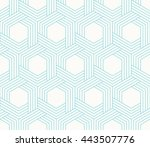 seamless striped wattled vector ... | Shutterstock .eps vector #443507776