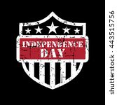 american flag element  symbol... | Shutterstock .eps vector #443515756