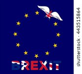 brexit. united kingdom flag as... | Shutterstock .eps vector #443515864