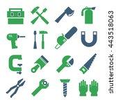 tool  equipment icon set   Shutterstock .eps vector #443518063