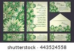invitation card collection ... | Shutterstock .eps vector #443524558