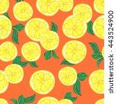 lemon vector illustration.... | Shutterstock .eps vector #443524900