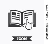 instruction sign icon. manual... | Shutterstock .eps vector #443524996