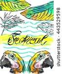 Tropical Jungle Template Card...