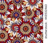 seamless pattern. vintage... | Shutterstock .eps vector #443532463