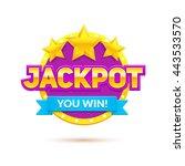 """jackpot"" banner. eps10 vector... | Shutterstock .eps vector #443533570"