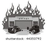 Rat Rods Garage. Vector...