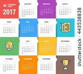 calendar for 2017 year. vector... | Shutterstock .eps vector #443538838