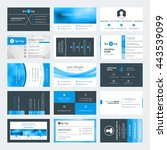 set of modern creative business ... | Shutterstock .eps vector #443539099