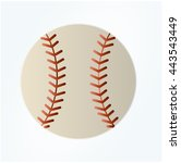 baseball line art icon for... | Shutterstock .eps vector #443543449