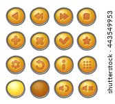 set of yellow buttons  game... | Shutterstock . vector #443549953