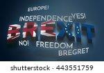brexit 3d render theme... | Shutterstock . vector #443551759