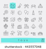 set of premium quality line toy ... | Shutterstock .eps vector #443557048