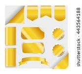 golden ribbons set isolated on... | Shutterstock .eps vector #443564188
