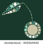 cherry shape vector design by... | Shutterstock .eps vector #443564443