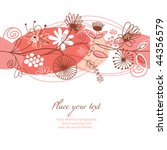 floral background  greeting card | Shutterstock .eps vector #44356579