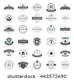 vintage logos design templates... | Shutterstock .eps vector #443572690