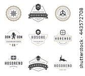 vintage logos design templates... | Shutterstock .eps vector #443572708