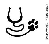 veterinarian logo | Shutterstock .eps vector #443581060