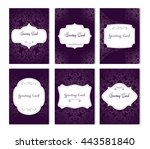 set of luxury flyer pages set... | Shutterstock .eps vector #443581840