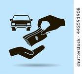 money and car vector icon | Shutterstock .eps vector #443591908