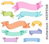 cute color ribbons with noise...   Shutterstock .eps vector #443595568