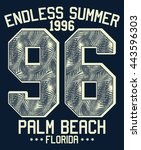 endless summer   florida... | Shutterstock .eps vector #443596303