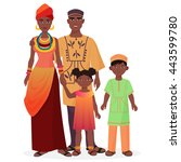 african family. african man and ... | Shutterstock .eps vector #443599780