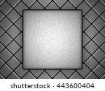 Abstract Metallic Silver Block...