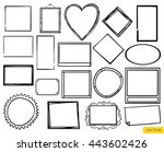 vector set of the hand drawn... | Shutterstock .eps vector #443602426