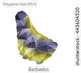 barbados map in geometric... | Shutterstock .eps vector #443604520