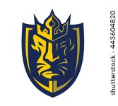 lion head and crown logo | Shutterstock .eps vector #443604820