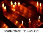 Burning Church Candles