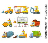 big set of construction... | Shutterstock .eps vector #443629333