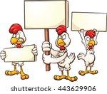 Cartoon Chickens Protesting....