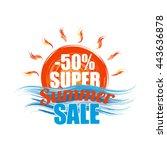 super summer sale template... | Shutterstock .eps vector #443636878