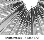abstract modern building | Shutterstock . vector #44364472