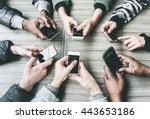 group of friends having fun... | Shutterstock . vector #443653186