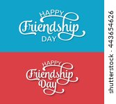 happy friendship day greeting... | Shutterstock .eps vector #443654626