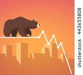 stock exchange market bears... | Shutterstock .eps vector #443655808