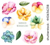 Handpainted Watercolor Flowers...