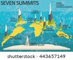 seven summits   highest... | Shutterstock .eps vector #443657149