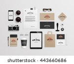 corporate identity template set ... | Shutterstock .eps vector #443660686