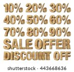 3d rendered collection of...   Shutterstock . vector #443668636