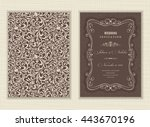 wedding invitation cards ... | Shutterstock .eps vector #443670196