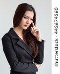 businesswoman beautiful gesture ... | Shutterstock . vector #443674360