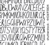 alphabet background  hand drawn ... | Shutterstock .eps vector #443695804