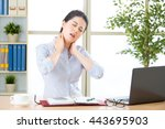 young asian business woman with ...   Shutterstock . vector #443695903